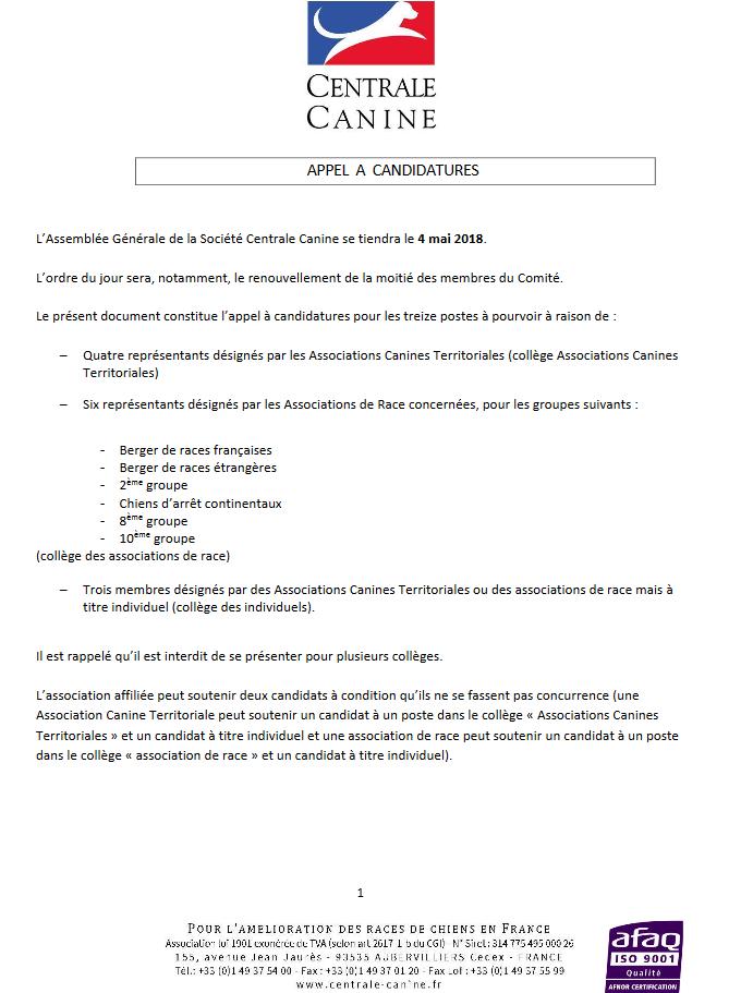 2018 electionscomite lettre